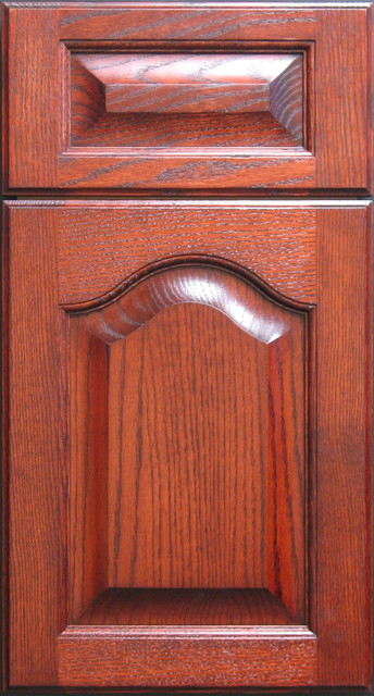 Red Oak Arched Cabinet Door Other Metro By Style Line Custom Hardwood Doors Wood Products