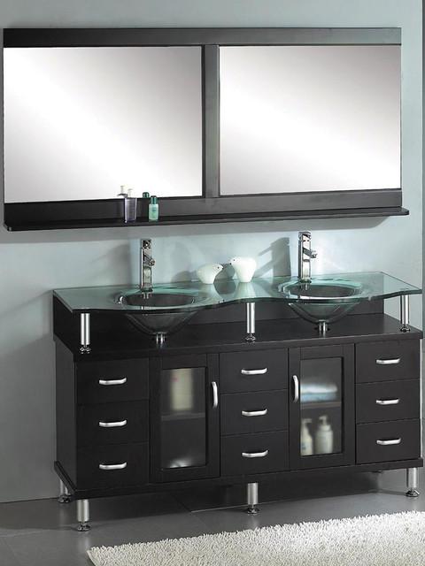 2100 Bathroom Vanity: Venetian 60 Dual Sink Bathroom Vanity In