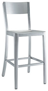 milan counter stool in silver bauhaus look barhocker. Black Bedroom Furniture Sets. Home Design Ideas