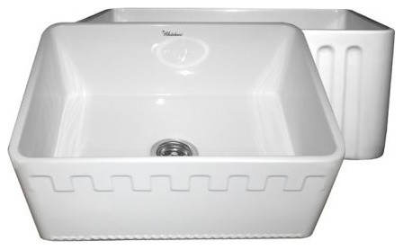 24 Inch Farmhouse Sink : ... 24 Inch Reversible Fireclay Farmhouse Kitchen Sink - Kitchen Sinks