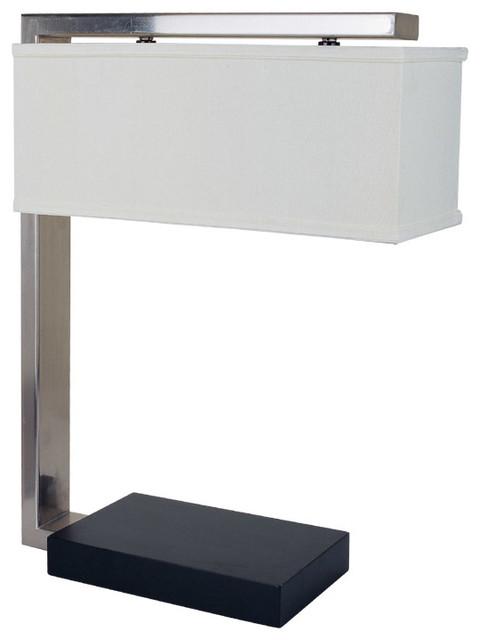 sloan modern 26 39 39 table lamp with rectangular shade. Black Bedroom Furniture Sets. Home Design Ideas