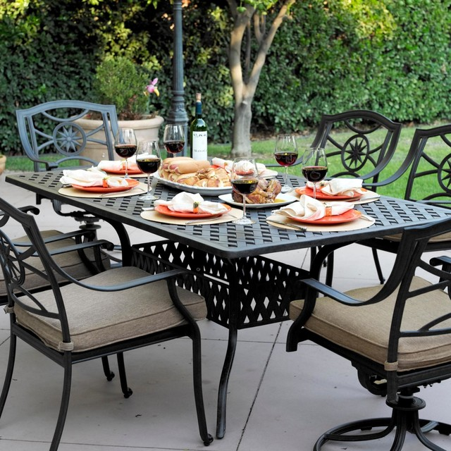 darlee ten star 6 person cast aluminum patio dining set