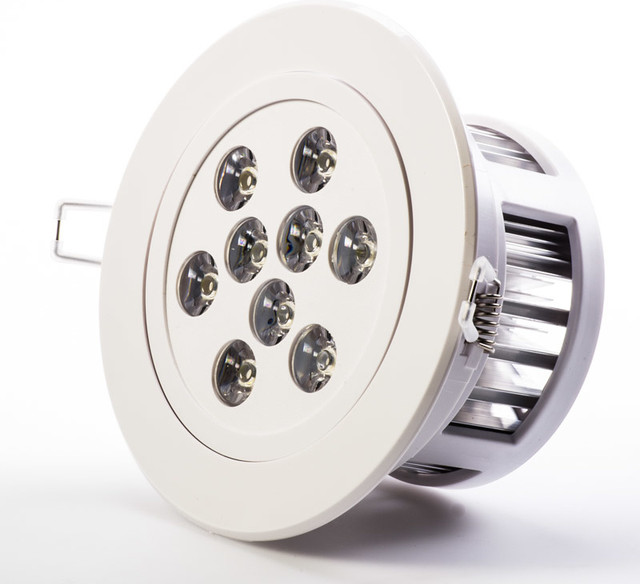 9 Watt LED Recessed Light Fixture Aimable And Dimmable Contemporary Rec