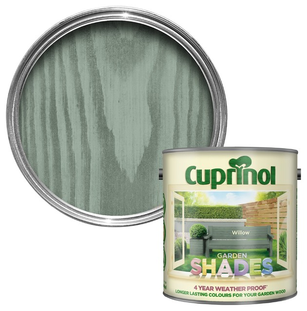 Cuprinol Garden Shades Willow Matt Woodstain 2 5l Traditional Stains Varnishes By B Q