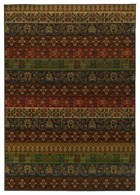 Oriental weavers parker multi multi runner 1 39 10 x7 39 6 area for Contemporary runner rugs for hallway