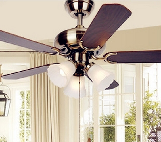 European Style Antique Ceiling Fan Light Traditional