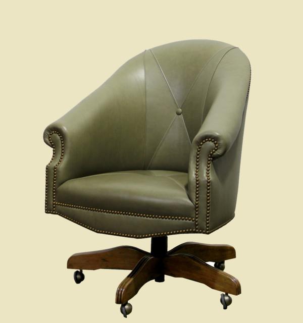A Custom Adjustable Leather Executive Desk Chair