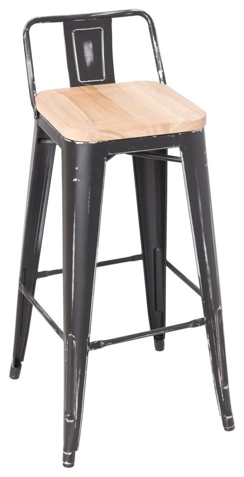 Gaius bar stools set of 2 ash and antique black 183 more info