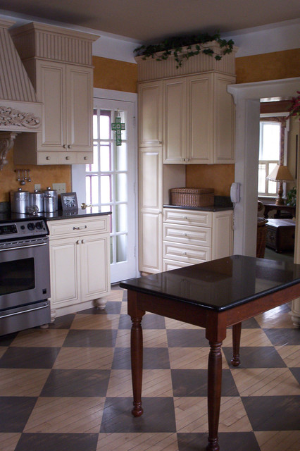 Victorian kitchen eclectic milwaukee by interior for Victorian kitchen floors