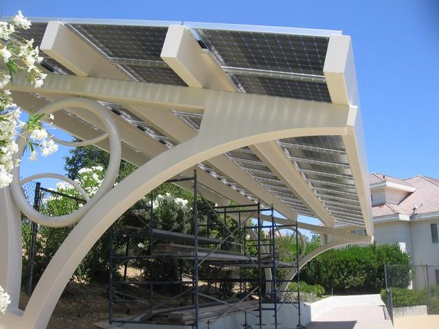 Solar Panels Arbor Construction In San Jose