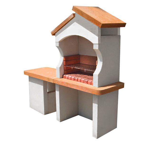 barbecue en pierre reconstitu e palerme avec hotte contemporain barbecue par castorama. Black Bedroom Furniture Sets. Home Design Ideas