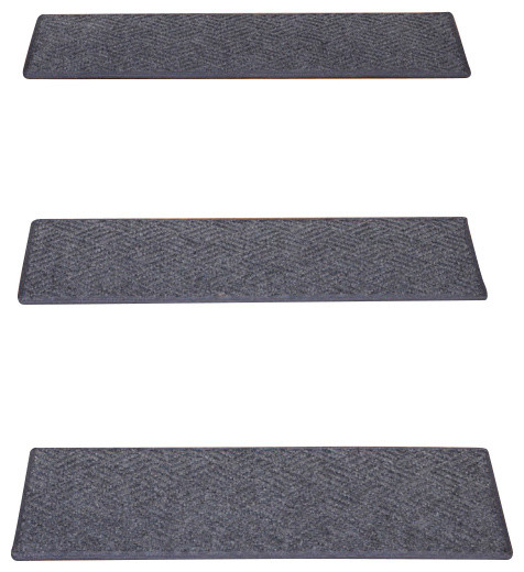 Indoor Or Outdoor Non Slip Carpet Stair Treads Set Of 15 Contemporary Stair Tread Rugs By
