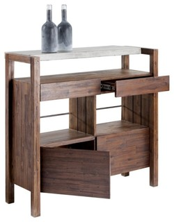 Contemporary wine and bar - Contemporary bar cabinet on a small budget ...