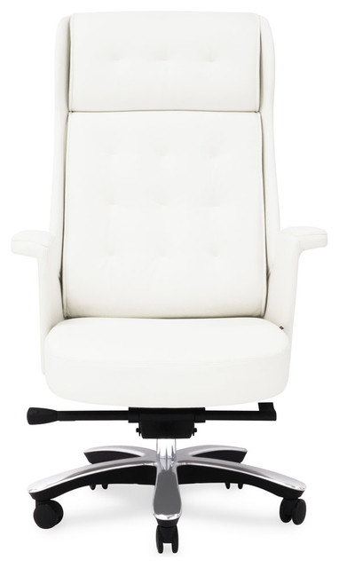 Genuine leather executive chair white contemporary office chairs