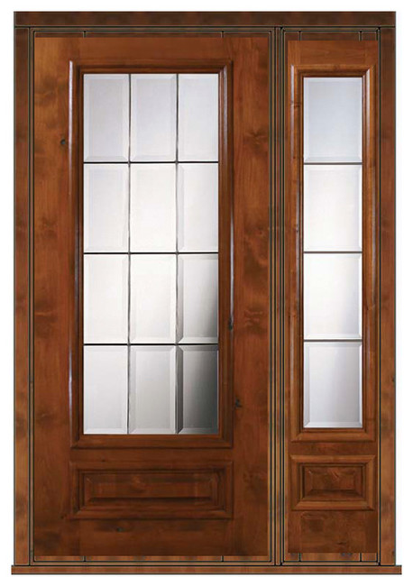 Prehung Patio Sidelight Door 80 Alder Patio 1 Panel 3 4