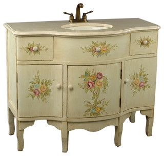 Signature Off White Bath Vanities With Sink