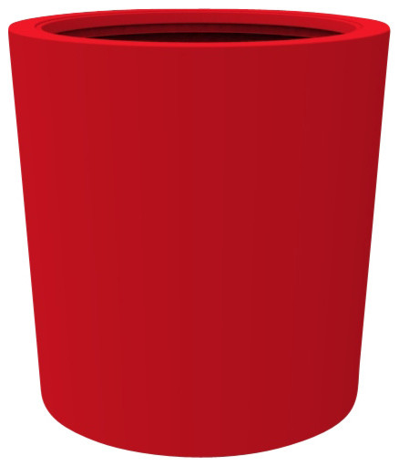 Large Vienna Planter, Viper Red - Contemporary - Outdoor Pots And Planters
