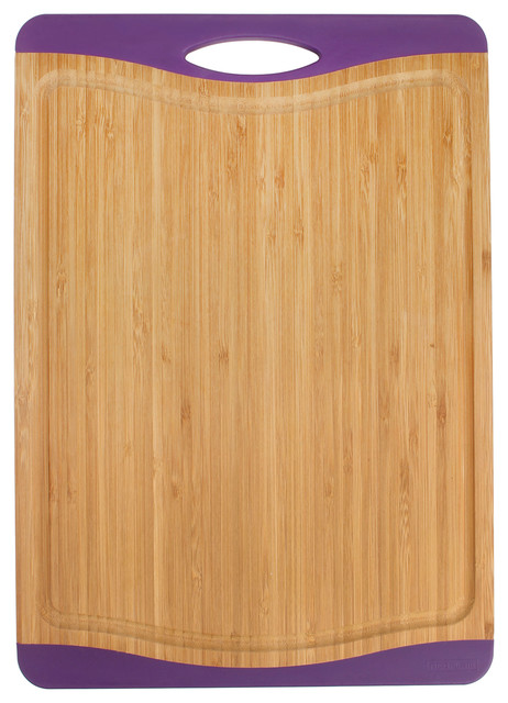 Neoflam Flutto Bamboo Cutting Board With Non Slip Edges Modern Cutting Bo