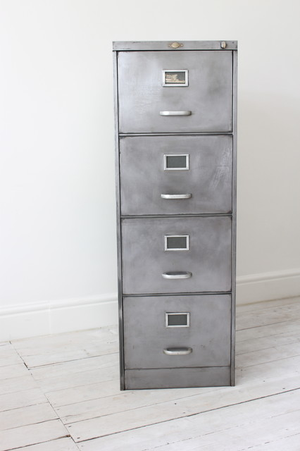 4 Drawer Vintage Filing Cabinet