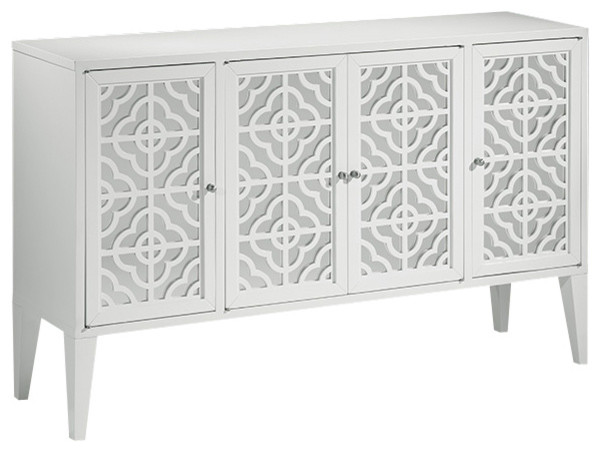 Lacquered White Mirrored Credenza - Traditional - Buffets And Sideboards - by Inviting Home Inc