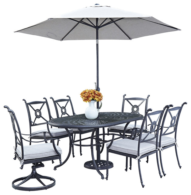 Oval Wrought Iron Patio Table Images