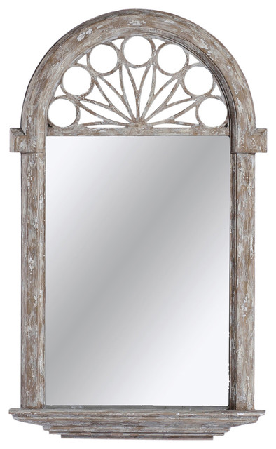 Rustic Foyer Mirror : Violet heavy distress cathedral french country hall foyer