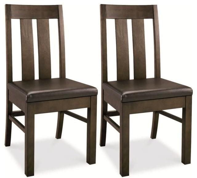 Bentley designs lyon walnut dining chair brown faux