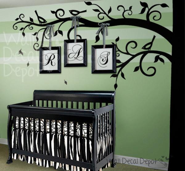 Tree wall decal modern nursery decor other metro - Modern nursery wall decor ...