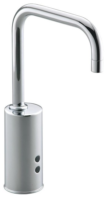 Kohler Gooseneck Touchless Deck Mount Faucet Contemporary Bathroom Faucets And Showerheads
