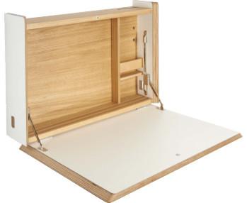 Ellis secr taire mural blanc moderne meuble bureau et for Meuble secretaire moderne blanc