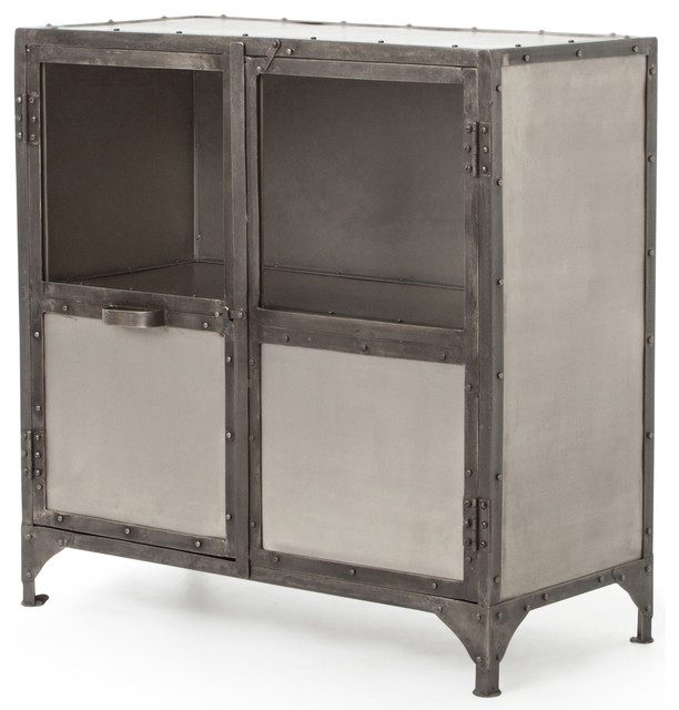 Fronzoni Industrial Loft Wide Metal Shoe Locker Style Sideboard - Industrial - Storage Cabinets ...