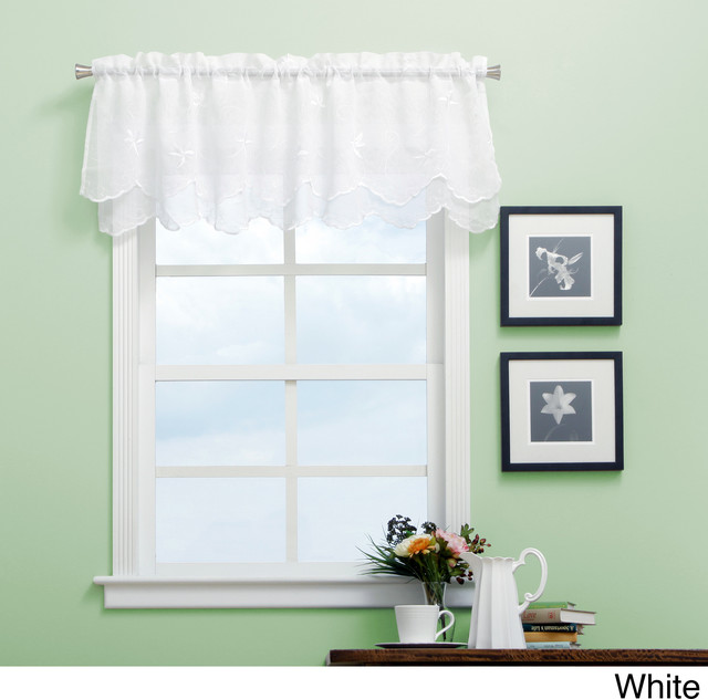 Zurich vine and leaf scalloped valance contemporary for Home decor zurich