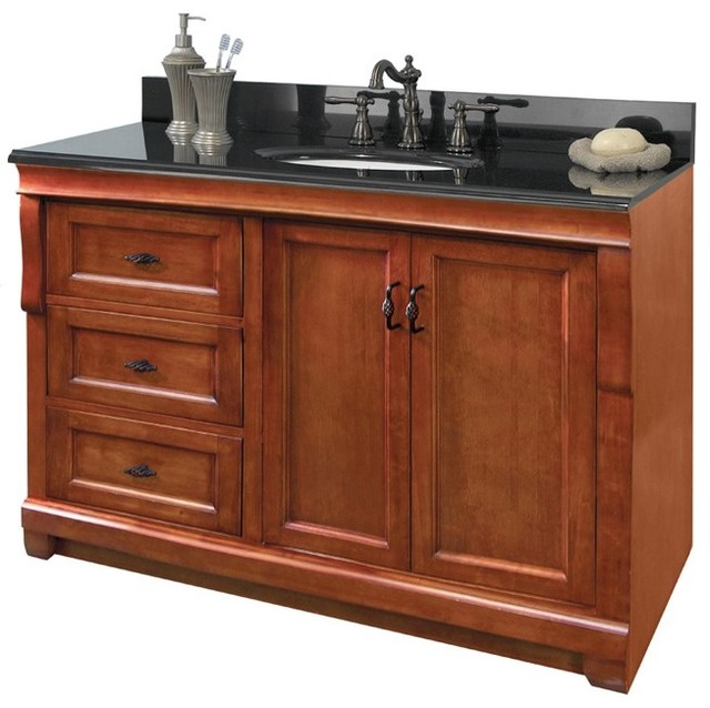 Foremost naca4821dl naples 48 vanity cabinet only for Bathroom cabinets 48 inch