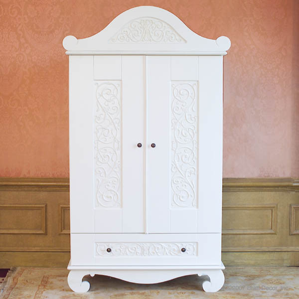 Chelsea Armoire in White by Bratt Decor  Traditional