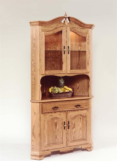 Hardwood Corner Hutch - Farmhouse - China Cabinets And Hutches - Tampa ...