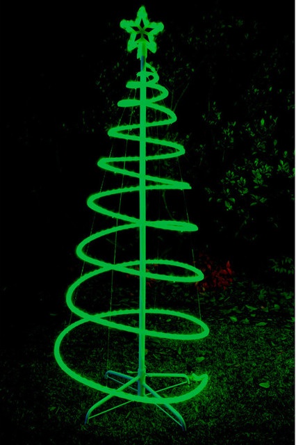 120cm Green Solar LED Spiral Xmas Tree Rope Light