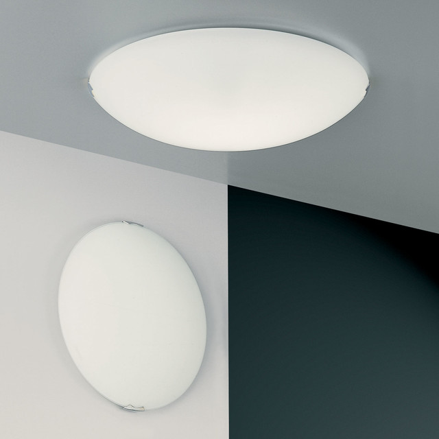Wall Mounted Ceiling Lights : Helios Wall / Ceiling Mount - Modern - Flush-mount Ceiling Lighting - by Lightology