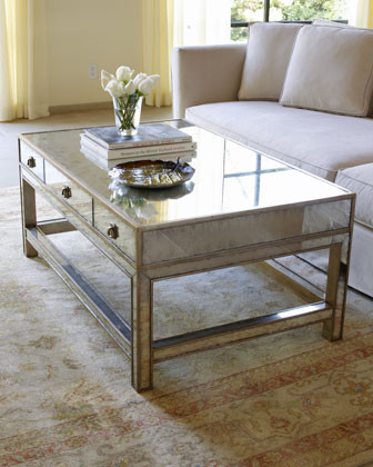 John Richard Collection Galla Mirrored Coffee Table Traditional Coffee Tables By Horchow