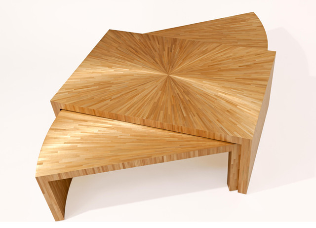 Coffee table in Straw Marquetry - Coffee Tables - new york - by Atelier Viollet