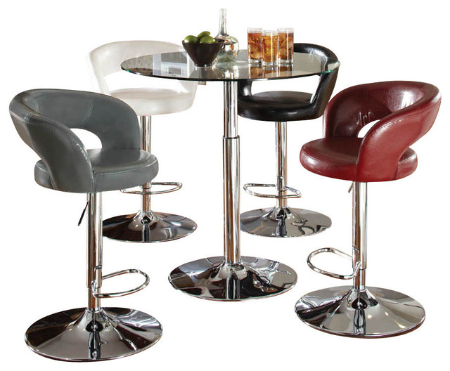 standard furniture cosmo 5 piece round glass dining room