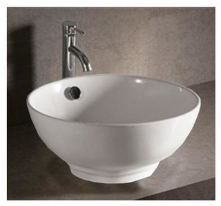 isabella round sink w center drain contemporary