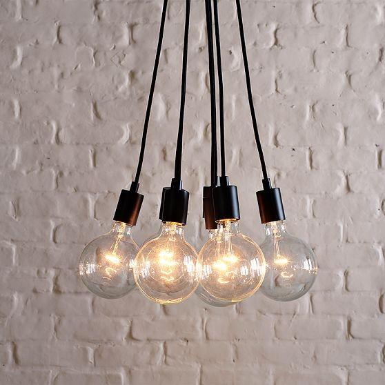 Industrial Bulb Pendant Midcentury Pendant Lighting By West Elm