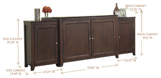 "Monterey TV Lift Cabinet With Side Cabinets For Flat Screen TV's Up To 55"" - Traditional ..."