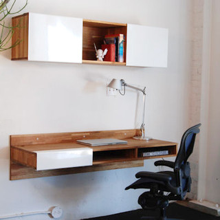 Lax Series Wall Mounted Desk Modern Desks And Hutches