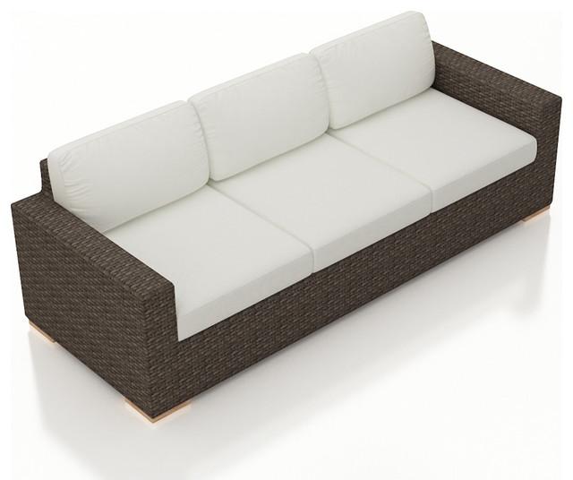 Arden Outdoor Modern Sofa Canvas Natural Cushions