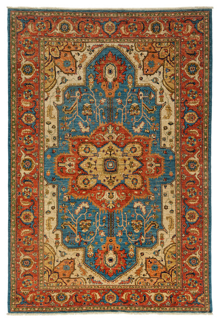Ziegler Wool Area Rug Royal 6x9 Traditional Area