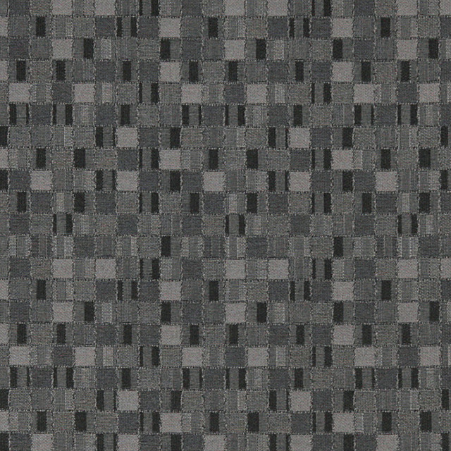Black And Grey Geometric Boxes Contract Grade Upholstery