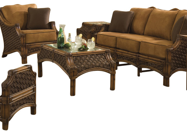 5 piece mauna loa living room furniture set academy for Living room 5 piece sets