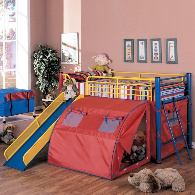 Coaster Fine Furniture 7239 Twin Bunk Bed with Slide and ...