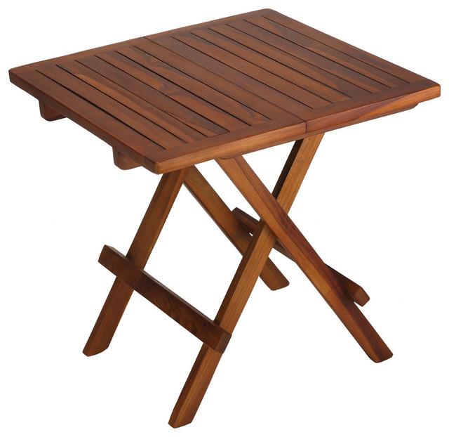 Bare Decor Ravinia Folding Teak Small Table Oiled Finish
